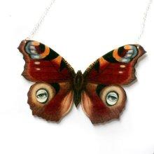 他の写真を見る3: ButterflEye in Red Necklace 赤い目柄蝶々のネックレス