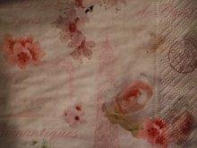 他の写真を見る2: 【再入荷】多用途にエレガントな薔薇のペーパーナプキンピンクローズ