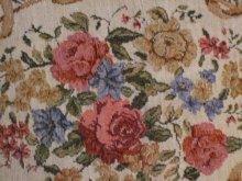 他の写真を見る1: 薔薇柄シェニ-ルマット ベージュ