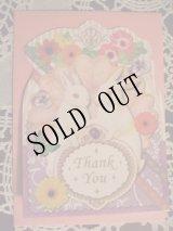 【再入荷】メルヘンうさぎのグリーティングカードpl「Thank you」