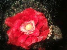 他の写真を見る1: 赤い薔薇のファースリッパ