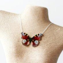 他の写真を見る2: ButterflEye in Red Necklace 赤い目柄蝶々のネックレス