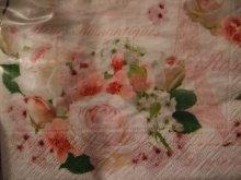 他の写真を見る3: 【再入荷】多用途にエレガントな薔薇のペーパーナプキンピンクローズ