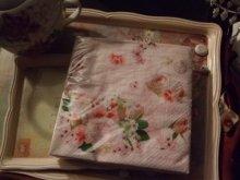 他の写真を見る1: 【再入荷】多用途にエレガントな薔薇のペーパーナプキンピンクローズ