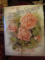 アメリカ直輸入ブリキ看板「Scott's Roses」