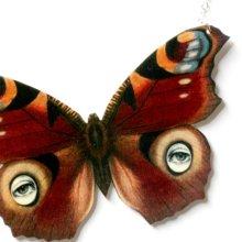 他の写真を見る1: ButterflEye in Red Necklace 赤い目柄蝶々のネックレス