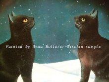 他の写真を見る2: 【再入荷】Anna Hollerer-Wischin Cat Post Card
