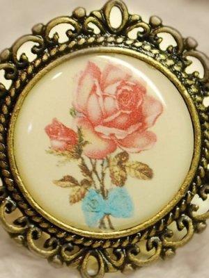 画像1: 古美 アンティークテイストピクチャーアクセサリー「Antique Rose」