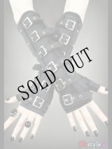 [再入荷] Gothic arm warmers gloves with buckles