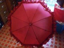 他の写真を見る2: 【再入荷】プリンセスボリュームフリルアンブレラ(雨傘)