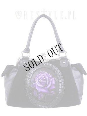 """画像1: [再入荷] Cameo bag """"PURPLE ROSE"""" Black Velvet, gothic, romantic handbag"""