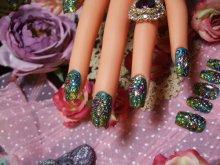 他の写真を見る2: [art nail] Decadence Green