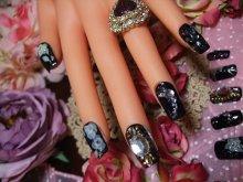 他の写真を見る1: [art nail]暗黒石の月 真夜中の詩