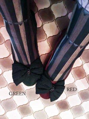 画像1: スエードリボンバレエパンプス ぺたんこ靴