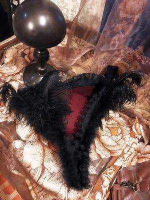 画像2: トリコーンハット 三角帽子「Lady Masquerade」