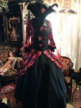 赤×黒 姫袖 アラベスクセパレートロングドレスセット