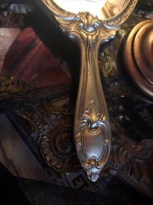 画像2: [再入荷] シャンパンゴールド ヴィクトリアンデザイン 手鏡