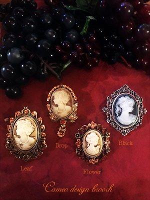 画像2: Antique design cameo style brooch カメオデザインブローチ