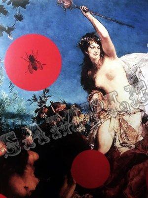 画像3:  no.07 蝿ドット アートポスター A4サイズ