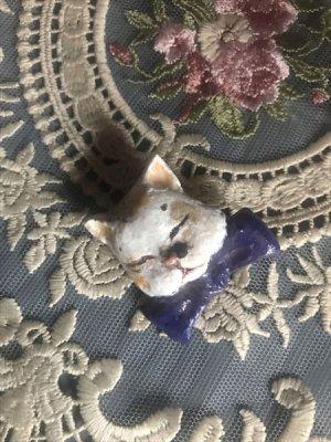画像3: 木村龍 アクセサリーNo.5 あじわい猫 ブローチ