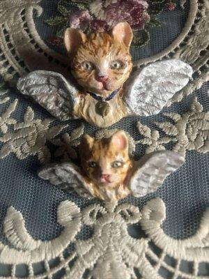 画像1: 木村龍 アクセサリーNo.10 No.11 猫天使のブローチ