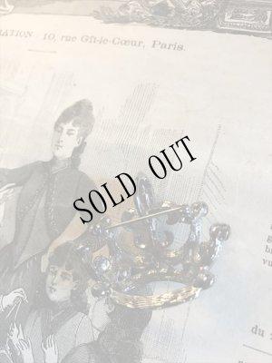 画像5: ラインストーン黒い王冠ブローチ