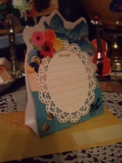 画像2: 【再入荷】メルヘンうさぎのグリーティングカードBLUE「Happy Birthday」