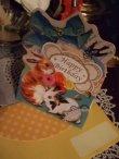 画像2: 【再入荷】メルヘンうさぎのグリーティングカードBLUE「Happy Birthday」 (2)