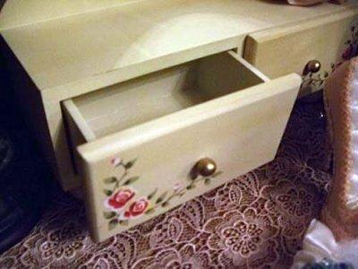 画像2: 店頭展示モデル 薔薇ペイント木製卓上ドレッサー