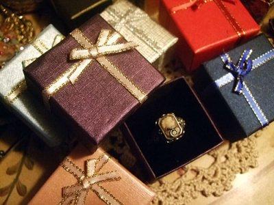 画像2: レトロクロスリボンリングプレゼントボックス