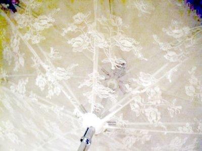 画像3: 【再入荷】レーシーフリルアンティークデザインパゴダパラソル(日傘)