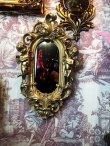 画像1: 天使壁掛け鏡 エンジェルウォールミラー GOLD (1)